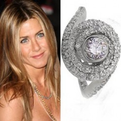 Some famous engagement rings include: